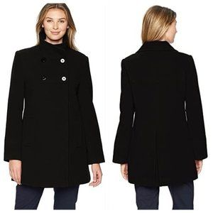 NWT LARRY LEVINE Double Breasted Plush Wool Coat L